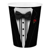 Black Tuxedo Paper Cup