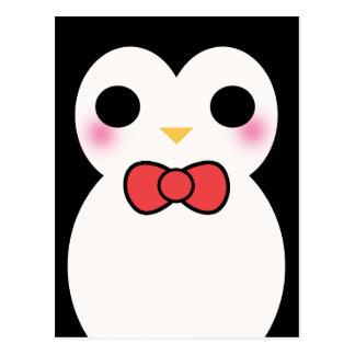 Black Tuxedo Penguin Post Card