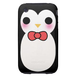 Black Tuxedo Penguin Tough iPhone 3 Cover