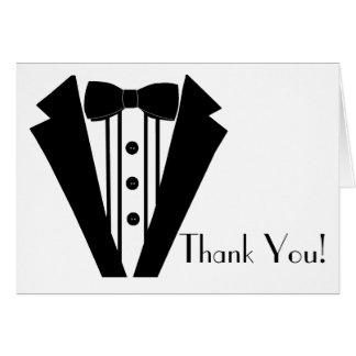 Black Tuxedo Thank You Stationery Note Card