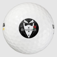 Black Tuxedo Wedding Favors Personalized Groomsman Golf Balls