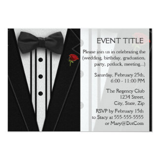 Black Tuxedo with Bow Tie Card