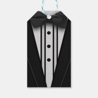 Black Tuxedo with Bow Tie Gift Tags