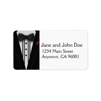 Black Tuxedo with Bow Tie Label