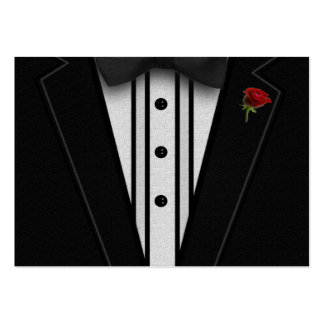 Black Tuxedo with Bow Tie Large Business Cards (Pack Of 100)