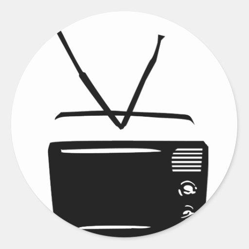 black tv television icon stickers