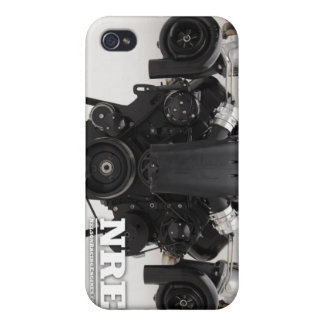 Black Twin Turbo Engine Case For iPhone 4