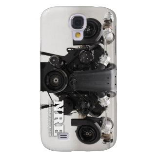 Black Twin Turbo Engine Galaxy S4 Case
