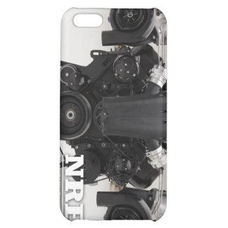 Black Twin Turbo Engine iPhone 5C Covers