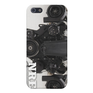 Black Twin Turbo Engine iPhone SE/5/5s Cover