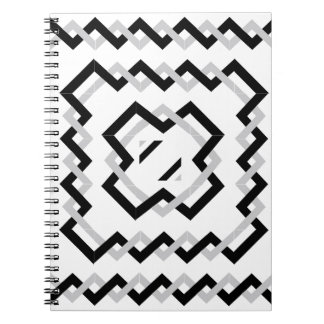 Black Twisted Ribbons Spiral Notebook