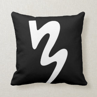 Black Two Sided Logo Pillow: Batavia Marching Band Throw Pillow