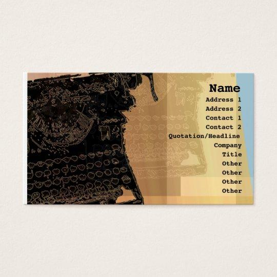 Black Typewriter Profile Card