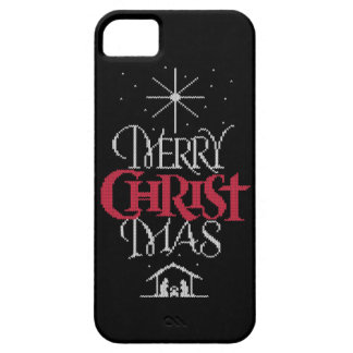 Black Ugly Christmas Sweater Religious Christ iPhone SE/5/5s Case