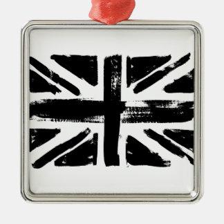 Black UK painted flag Metal Ornament