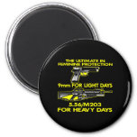 Black Ultimate Feminine Protection 2 Inch Round Magnet