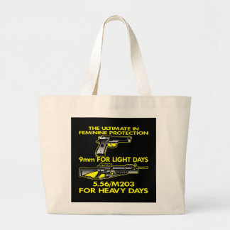 Black Ultimate Feminine Protection Canvas Bags