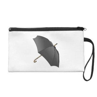 Black Umbrella Wristlet Purses