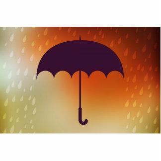 Black Umbrella in Sunset Rain Cutout