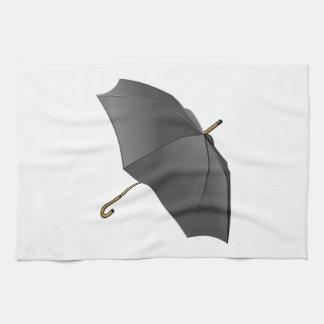 Black Umbrella Hand Towel