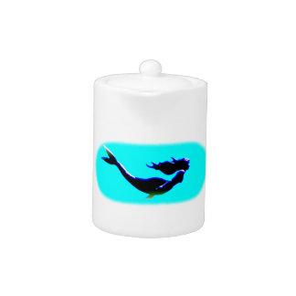 black underwater mermaid teapot