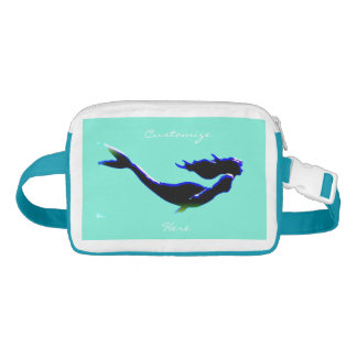 black underwater mermaid Thunder_Cove Fanny Pack