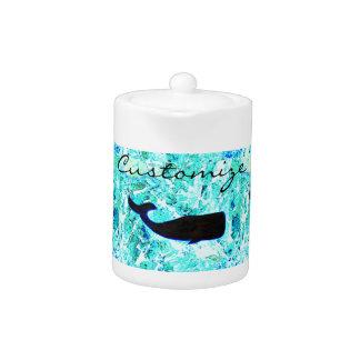 black underwater whales Thunder_Cove Teapot