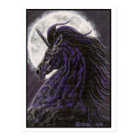Black Unicorn 2 Art Postcard