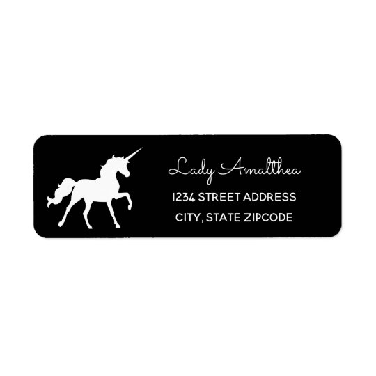 Black Unicorn Address Label