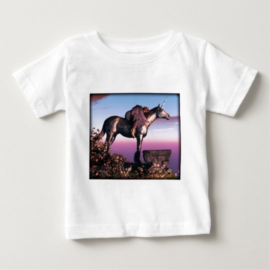 Black Unicorn Baby T-Shirt