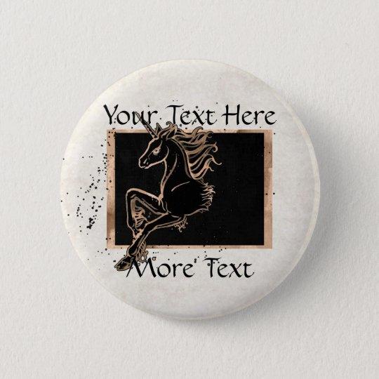 Black Unicorn Button