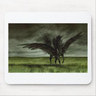 Black Unicorn in Open Field Mouse Pad