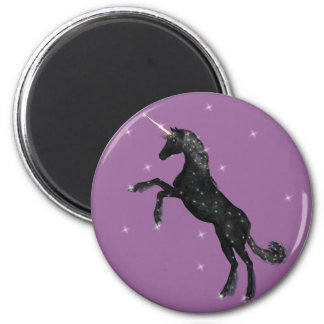 Black Unicorn Fridge Magnet