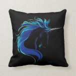 Black Unicorn Pillows
