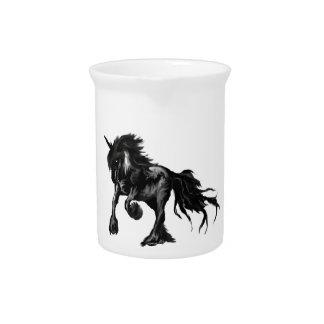 Black unicorn pitcher