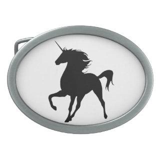 Black Unicorn Silhouette Belt Buckle