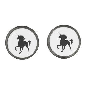 Black Unicorn Silhouette Cufflinks
