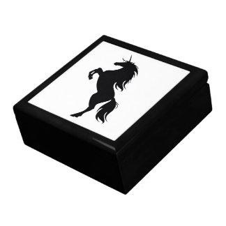 Black Unicorn Silhouette Gift Box