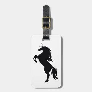 Black Unicorn Silhouette Luggage Tag