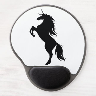 Black Unicorn Silhouette Mouse Pad