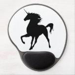 Black Unicorn Silhouette Mouse Pad Gel Mouse Pad