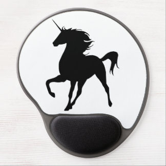Black Unicorn Silhouette Mouse Pad Gel Mouse Pad