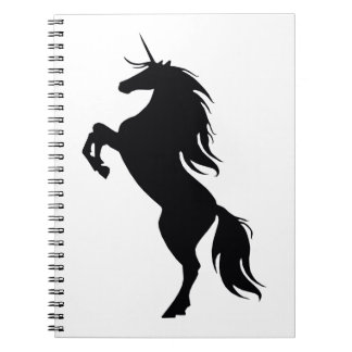 Black Unicorn Silhouette Notebook