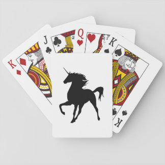 Black Unicorn Silhouette Playing Cards