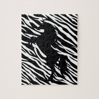 Black Unicorn Silhouette Puzzle