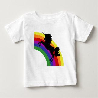 Black Unicorn Silhouette Rainbow Baby T-Shirt