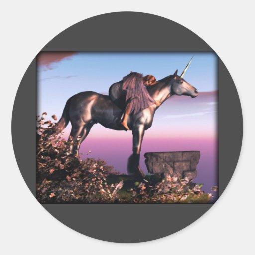 Black Unicorn Stickers
