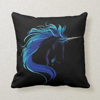Black Unicorn Throw Pillow