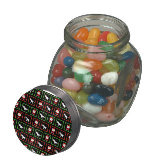 Black unicorns santa claus pattern jelly belly candy jars