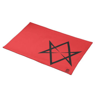 Black Unicursal Placemat